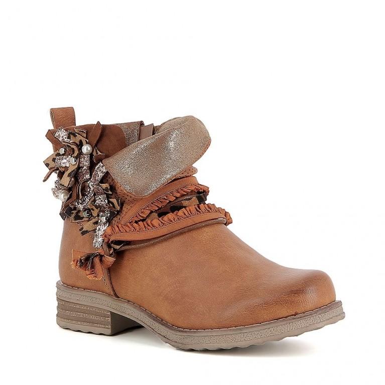 70f1c9d0e43852 Boots avec... Noir Gris Camel