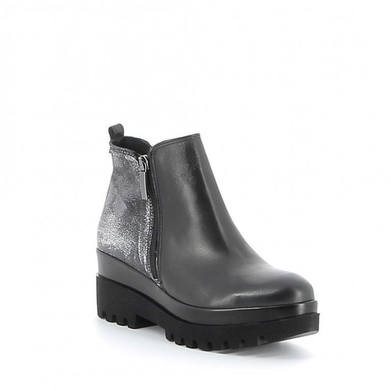 Boots cuir à plateau