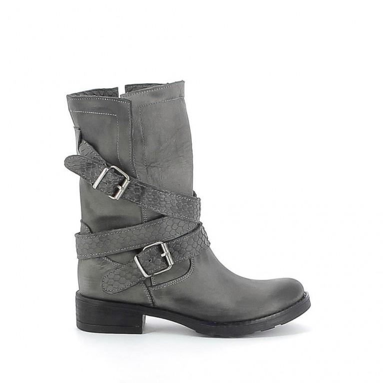 Boots nubuck pliable à écailles