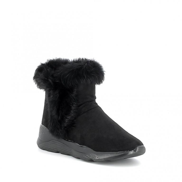 Sneaker montante à fourrure