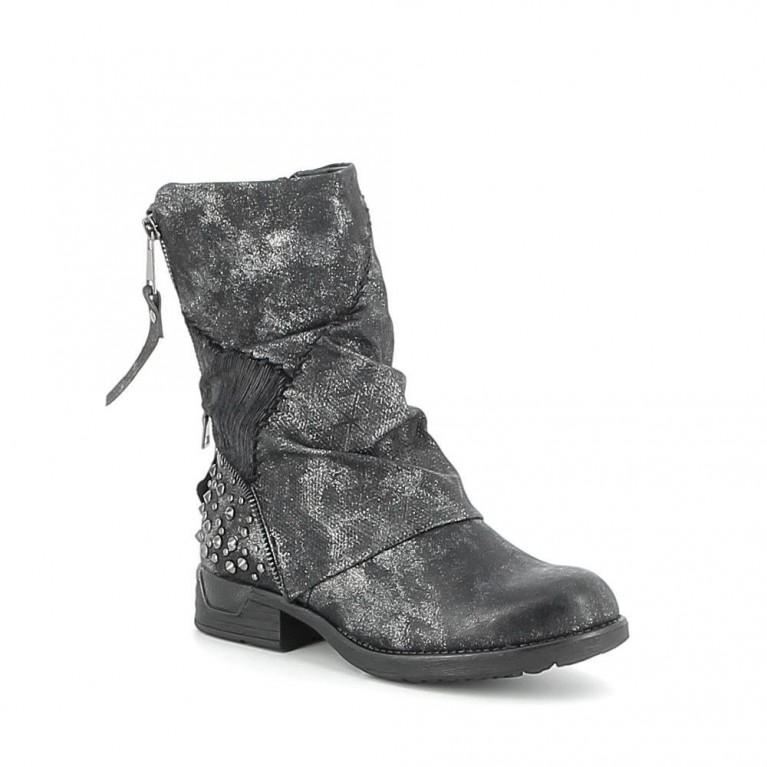 Boots patchwork texturées
