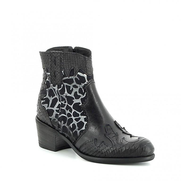 Boots à motifs texturés