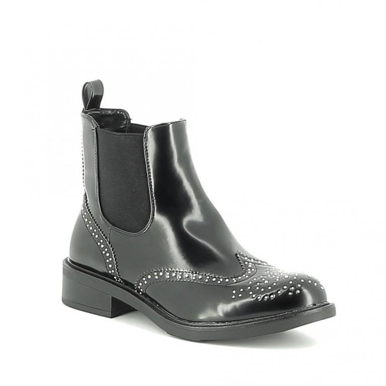 Chelsea boots cloutée brillante