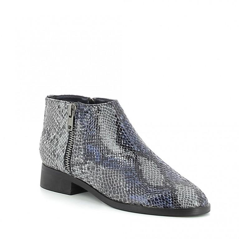 Low-boots croco coloré